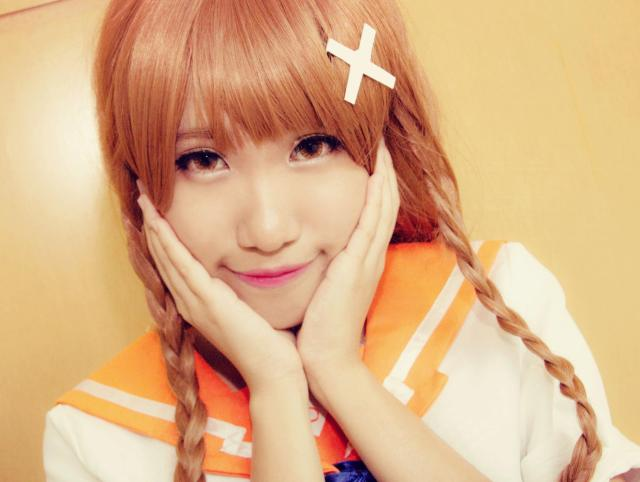 Mirai Suenaga cosplay using iFairy Crystal Brown Lens
